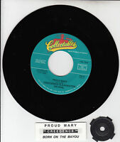 """CREEDENCE CLEARWATER REVIVAL  Proud Mary & Born On The Bayou CCR 7"""" 45 rpm NEW"""