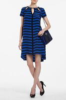 NEW BCBG MAX AZRIA LARKSPUR BLUE COMBO MARIA CARLA CUTOUT URP6P694  DRESS SZ XXS