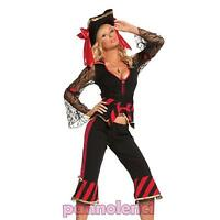 Costume vestito carnevale donna maschera PIRATA piratessa sexy halloween DL-040
