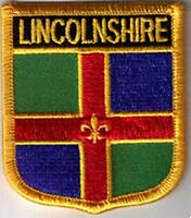 Lincolnshire England County Flag Embroidered Patch T7