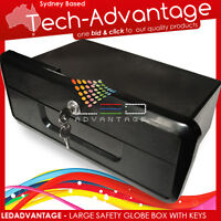 BOAT BLACK CARAVAN RECESSED LARGE COMPARTMENT GLOVE STORAGE BOX LOCK & TWO KEYS