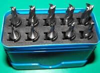 Set of 10 HSSCO8 FC3 milling cutters High Quality