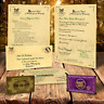 Harry Potter PERSONALISED HOGWARTS ACCEPTANCE LETTER PLUS FREE EXPRESS TICKET q