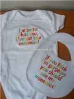 Personalised Baby Vest/Grow Christening/Birth Gift Boy