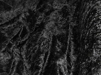 BLACK CRUSHED VELVET DRESS THEATRE COSTUMES JEWELLERY STALLS DECORATION FABRIC