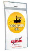 Just Vitamins Cod Liver Oil 1000mg High-Strength Capsules
