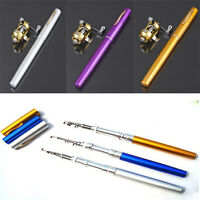 4 color Mini Pen Type Portable Aluminum Alloy Fish Fishing Rod Pole Reel Combos