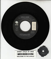 """GUNS N' ROSES Sweet Child O' Mine & Welcome To The Jungle 45 rpm 7"""" NEW record"""