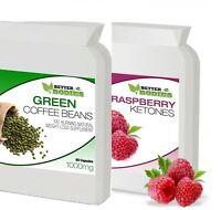 Raspberry Ketone + Green Coffee Bean Extract Diet Weight Loss Slimming Pills