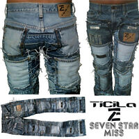 Ticila SEVEN STAR MISS Phat Beach Rock Club Handmade Special Edition JEANS WoW