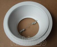 """6"""" INCH RECESSED CAN LIGHT STEP TRIM BAFFLE R40 PAR38 FITS HALO JUNO CAN WHITE"""