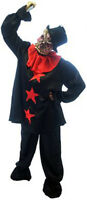 Halloween-Horror-Evil-Scary-Unisex-ZOMBIE CLOWN Fancy Dress Costume PLUS SIZES