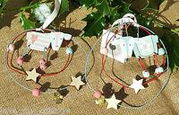 Shabby Chic Fun Cute Wooden Reindeer Star Heart Christmas Wreath Tree Decoration