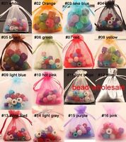 Wholesale Lots 30/100pcs Organza Jewelry Packing Pouch Wedding Favor Gift Bags