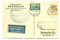 GRAF ZEPPELIN FLIGHT CARD 1931 SIEGER 102Aa HUNGRY C24