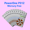 60 Power One Hearing Aid Batteries, SIZE 312, P312, pr41 Super Fresh Exp 2021