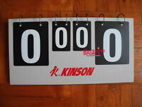 Kinson Professional Table Tennis Counter (Scoreboard)