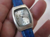 "MUDD,Clean Dial,SS Case,Blue Leather Band,Classy""LADIES WATCH"",1510 L@@K!"