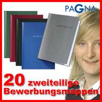 20 Start Bewerbungsmappen 2-teilig von PAGNA Farbe frei - Mappen für Bewerbung