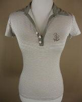 Sportliches BOTTEGA (CAVALETTI) Serafino Shirt Top Viskose taupe-weiß Gr L 38-40