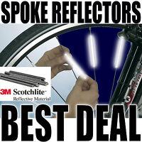 Spoke Reflectors Bright 3M Scotchlite Bike Wheel Bicycle Cycle Safety 1-72 SAFE