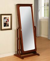 Powell Cherry Cheval Jewelry Armoire Storage Mirror Cabinet Furniture 508-551