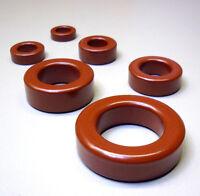 5 Stück Eisenpulver Ringkerne Typ T25-2 rot / Frequenzbereich 1 - 30 MHz