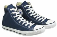 Ladies Mens Converse All Star Ox CT Hi Trainers Navy Blue Size UK Size 3