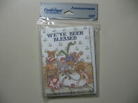 8 Announcement Cards (We've Been Blessed) w/envelopes, Brand New and Sealed