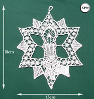 New Chemical Lace Schiffli Christmas Hanging Decoration Star Candle XP30
