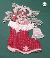 New Chemical Lace Schiffli Christmas Hanging Decoration Santa Boot XP80