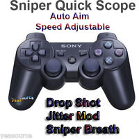 New Sony PS3 Modded Rapid Fire Controller Quick Scope Jitter Drop Shot COD Games