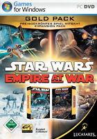 Star Wars : Empire At War - Gold Pack ( PC, 2007, in DVD-Box) Deutsche Version