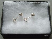 New Sterling Silver 925 5mm Ball Stud Earrings/ Sleeper