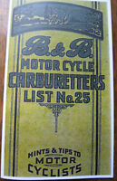 VINTAGE B & B CARBURETTERS CATALOGUE WITH HINTS & TIPS 1916-24