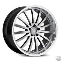 """17"""" 5x112 Mandrus Millenium Silver Wheels Rims Mercedes Benz C E CLK SLK Class"""