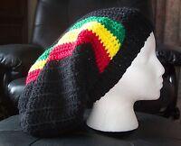 New Rasta Slouch Beanie Dread Tam XXL Marley Dreadlock Hippie Slouchy Bob Hat!