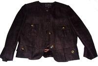 Hobbs Malawi safari linen mix jacket chocolate brown size 14 brand new