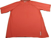Reebok Men's PlayDry Crew Neck Short Sleeve T-Shirt, Red