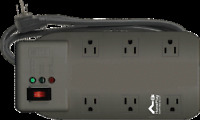 TII HNP6 Home Networking Surge Protector, 6-Outlet, 640 Joules