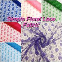 Simple Floral Flower Lightweight Lace Dress/ Costume Fabric (Sold per Metre)