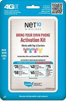 Net10 Bring Your Own Phone SIM Activation Kit Retail Packaging