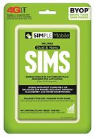 Simple Mobile Bring Your Own Phone SIM Activation Kit Retail Packaging