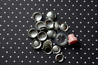25 x self cover metal flat back buttons size 24 (15mm) + TOOL