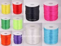 10m Nylon Chinese Knot Satin Macrame Beading Jewelry Rattail Cords10 Colors 2mm