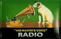 HIS Masters Voice Radio Blechschild Schild Blech Metall Tin Sign 20 x 30 cm