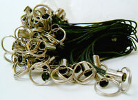 20 x Black Mobile phone cord charms with 7mm jumprings