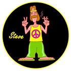 hippy Paz - Fun / broma Personalizado - Soporte para disco de ITV - REUTILIZABLE
