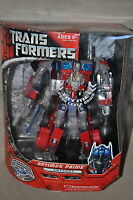RARE TRANSFORMERS LEADER 1ST OPTIMUS PRIME MOVIE TFTM MINT 100% COMPLETE w/ BOX