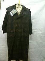 BRAND NEW FULL LENGTH WAX COTTON STOCKMAN COAT SIZE - LARGE